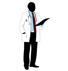 Medical doctor silhouette vector