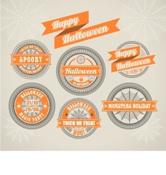 Calligraphic design elements halloween vector