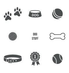 Dog stuff set vector