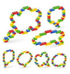 Lego bubble vector