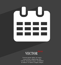 Calendar date or event reminder icon symbol flat vector