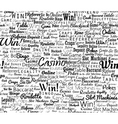 Casino typographic seamless vector