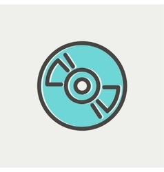 Reel tape deck player recorder thin line icon vector