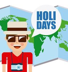 Holidays vacations vector