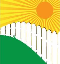 Sunny fence vector
