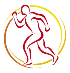 Abstract runner - athletic vector