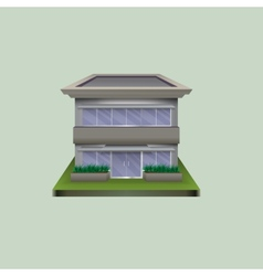 Lonely standing building of glass and concrete vector