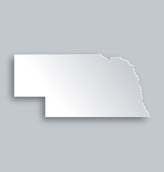 Map of nebraska vector