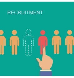 Recruitment and human resource infographics vector