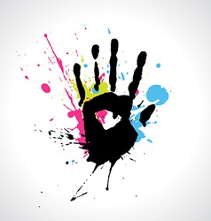 Abstract hand vector