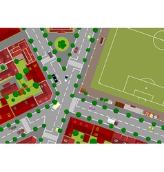 Football field in town vector