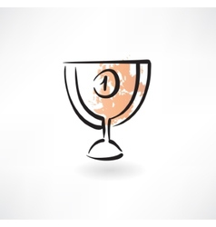 Goblet first place grunge icon vector