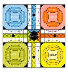 Vintage game board vector