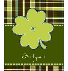 Four leaf clover textile label vector