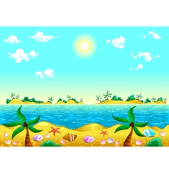 Seashore and ocean vector