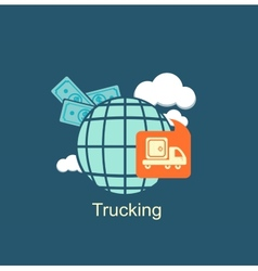Trucking money icon vector