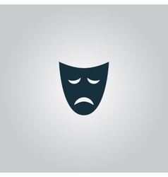 Sadness mask vector
