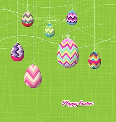Sparkling easter eggs ornaments vector