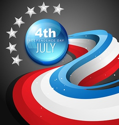 4th of july american independence day vector