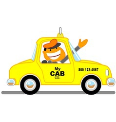 Taxicab driver vector