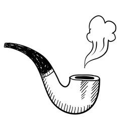 Doodle pipe smoke vector