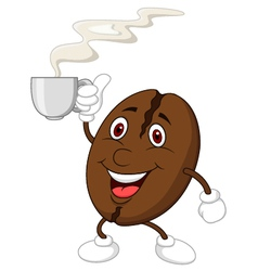 Coffee bean cartoon character vector