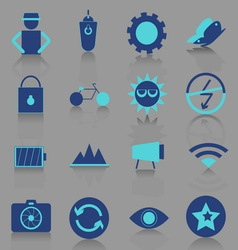 Photography icons with reflect shadow vector