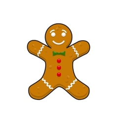 Christmas decorative gingerbread cookieman vector
