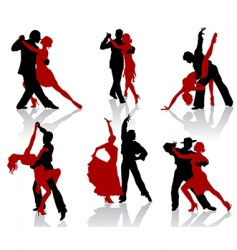 Tango silhouettes vector