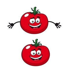 Two happy tomatoes vector