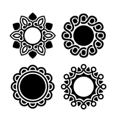 Jewelry ornament set vector