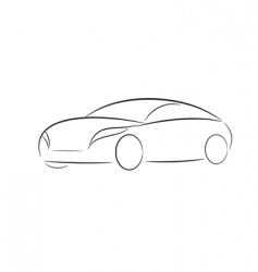 Cartoon silhouette of a car vector