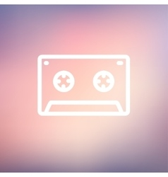 Cassette tape thin line icon vector