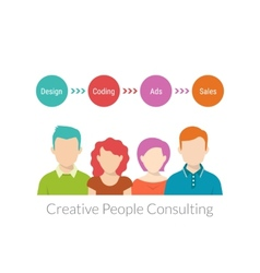 Creative people consulting vector