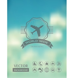Blurred landscape vector