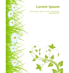 Template with grass vector