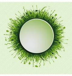 Grassy circle vector