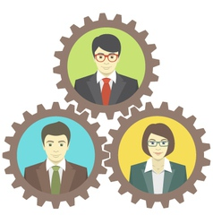 Mechanism of teamwork vector