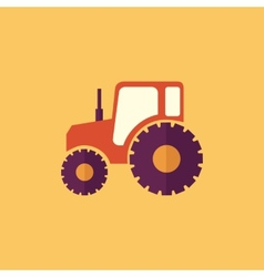 Tractor transportation flat icon vector