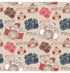Vintage camera photography pattern vector
