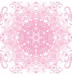 Filigree valentine floral frame vector
