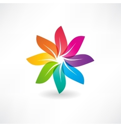 Abstract colorful leaves icon vector