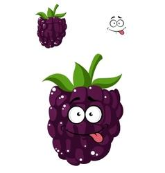 Delicious ripe blackberry vector