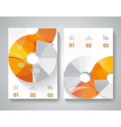 Brochure design with arrows elements vector