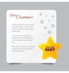 Customer service letter thank you for buying vector