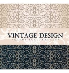 Vintage wallpaper gift wrap floral vector