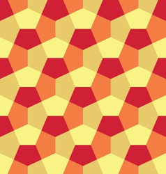 Hexagon paper fold pattern vector