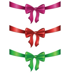 Silk bows set2 vector