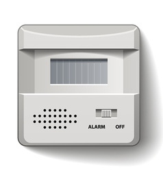 Motion detector infrared alarm vector