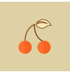 Cherry food flat icon vector